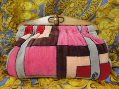 Vintage Roberta di Camerino pink red grey brown velvet by eNdApPi