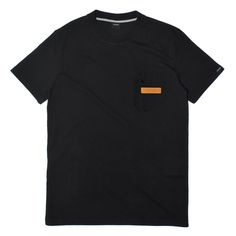 Black Velvet Zip Pocket Tee - Black