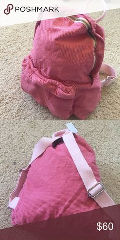 Brandy Melville pink/white striped backpack NWT Brandy Melville Bags Backpacks