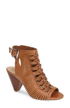 Vince Camuto 'Emore' Leather Sandal (Women) available at #Nordstrom in black at OB