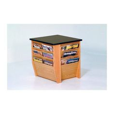 Wooden Mallet Dakota Wave End Table with Magazine Pockets Finish: Light Oak