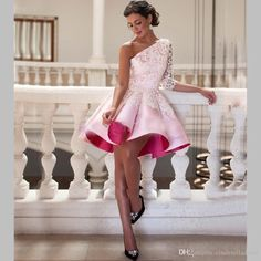 short homecoming dresses,one shoulder homecoming dresses,lace homecoming dresses,short pink prom dresses for teens · DestinyDress · Online Store Powered by Storenvy Cheap Homecoming Dresses, Prom Dresses 2016, Prom Dresses For Teens, Pink Prom Dresses, Short Dresses, Evening Dresses, Bride Dresses, Dresses Dresses, Dance Dresses