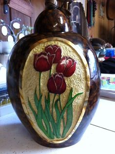 Gourd Art by Irene Gonzalez, featuring GourdMaster™ Transparent Acrylics |Pinned from PinTo for iPad|