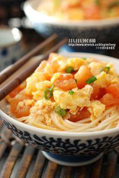 番茄雞蛋拌麵