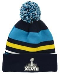 newest collection cf4a3 1b188 New Era Super Bowl XLVIII Stripe Out Knit Hat
