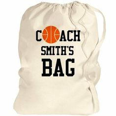 Coach Smith's Bag: Custom Port Authority Laundry Bag by Port Authority. $13.97. Create a a href='http://www.customizedgirl.com/tag/custom%20bags=top6=1'custom bag/a for the athlete you know or design one for your coach! It's a great way to carry all of your basketball gear! If you love to dunk, dribble, and shoot free throws, then this basketball art is perfect for you! Use this art to show your team spirit or customize team shirts with the perfect ba...