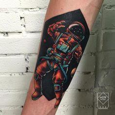 Astronaut Tattoo by Kostya Maestro