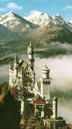 Schloss Neuschwanstein, home away from home for Ludwig II, King of Bavaria.
