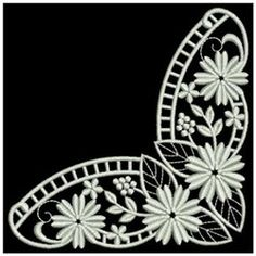 Ace Points Embroidery Design Pack: White Work Daisies