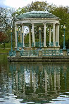 The Silverfield Estate of Haleville in 'House of Shadows' short Gothic romance from Providence Lyceum. Actually, the  Casino Bandstand, Roger Williams Park, Providence, Rhode Island