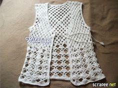 DOS CHALECOS TEJIDOS A CROCHET MUY FÁCILES DE HACER   Patrones Crochet, Manualidades y Reciclado