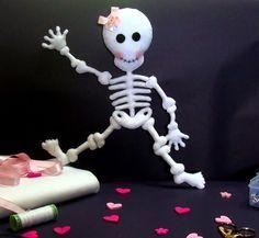 Feltro Fácil: Esqueleto em Feltro