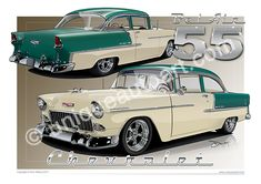 1955 1956 1957 CHEVY EXTERIOR PAINT GASKET SET 2 DOOR ** USA MADE **