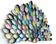Toilet Paper Roll Wall Art | toilet roll art. I used acrylic paint to paint inside of the roll ...