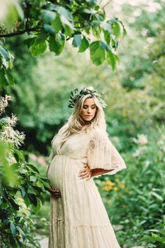 Lace Maternity Dress for Baby Shower, Photo Shoot and Wedding-Bohemian Maternity Dress with Flutter Sleeve-Bridesmaid Lace Dress-BRIA Gown Bohemian Maternity Photos, Maternity Photo Outfits, Maternity Dresses For Photoshoot, Maternity Dresses For Baby Shower, Maternity Fashion, Maternity Photography Poses, Maternity Poses, Maternity Pictures, Flowy Maternity Dress