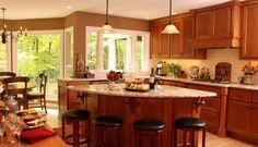 l shaped kitches | ... orient my island in my L shaped kitchen - Kitchens Forum - GardenWeb