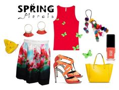 Floral Skirt by folioboutique on Polyvore featuring JINsoon, Kate Spade and H&M
