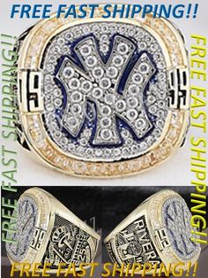 New York Yankees 1999 World Series Championship Ring Size 10 -13 Mariano Rivera CLO$EOUTDEALZ  Buy with confidence knowing we stand by our motto  Customer Satisfaction is our #1 priority!  Don't just take our word, please read our feedback and see what our customers have to say about us. If you want quality products, then buy from us.  Item Description1999 NEW YORK YANKEES WORLD SERIES CHAMPIONSHIP RING - 18K GP    This is an absolute must have for any and all Yankees / Mariano Rivera