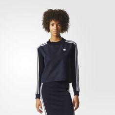ADIDAS ORIGINALS 3-Stripes Sweatshirt. #adidasoriginals #cloth #