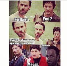 The Walking Dead / Rick Grimes / Daryl Dixon / Drake and Josh / Megan / Funny / LOL