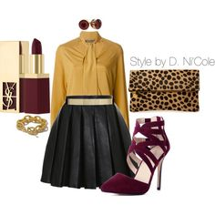 A fashion look from November 2014 featuring Nineminutes blouses, Balmain mini skirts and Ivanka pumps. Browse and shop related looks.