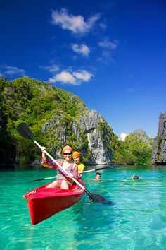 Blue Crystal Ocean Sea, Bacuit Archipelago, Palawan, Philippines
