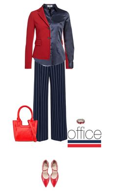 Office outfit: Navy - Red by downtownblues on Polyvore