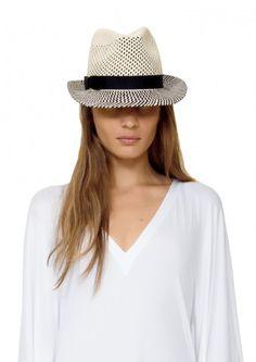 Eva Trilby Perforated Panama Hat