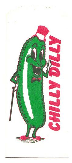 Vintage Chilly Dilly Pickle - I like anthropomorphic food Retro Advertising, Vintage Advertisements, Vintage Ads, Retro Illustration, Character Illustration, Vintage Cartoons, Posca Art, Vintage Packaging, Mascot Design