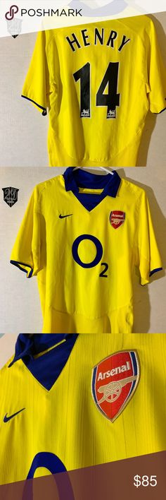 6c6f3b5a3 Vintage Nike Arsenal 03 04  14 Henry Away Jersey Description  Own a piece
