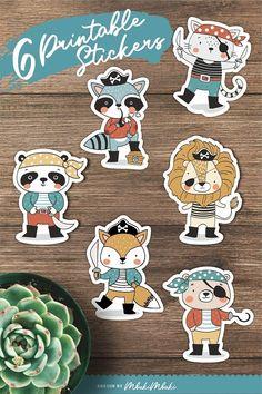 Stickers Design, Craft Stickers, Printable Stickers, Cute Stickers, Stencil Diy, Stencils, Printable Animals, Snapchat Stickers, Sticker Ideas