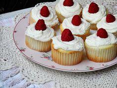 Raspberry Filled White Chocolate Buttercream Cupcakes