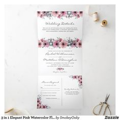 Addressing Wedding Invitations, Wedding Invitations Online, Wedding Invitation Wording, Elegant Invitations, Wedding Stationery, Watercolor Fl, Floral Save The Dates, Wedding Details, Wedding Ideas