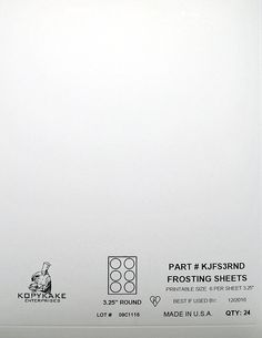 Kopykake KJFS3RND 3' Circle Frosting Sheets (24 sheets per pack/ 3' print area) >>> Want additional info? Click on the image.