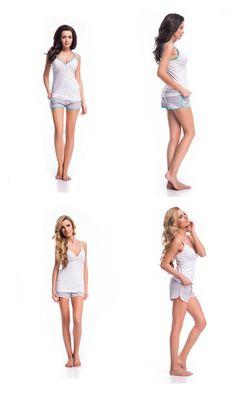 Damen Schlafanzug set Pyjama top Short Nachtwäsche Baumwolle Hausanzug S M L XL