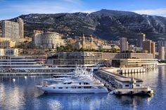 Port Hercule of Monaco with the Casino in the background.