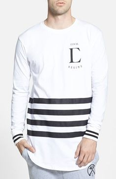 Civil Regime 'League' Drop Long Sleeve T-Shirt available at #Nordstrom