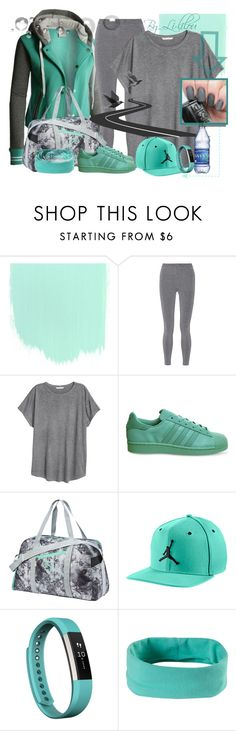 """""""Sportive!"""" by li-lilou ❤ liked on Polyvore featuring LE3NO, T By Alexander Wang, H&M, adidas, Puma, NIKE, Fitbit and prAna"""
