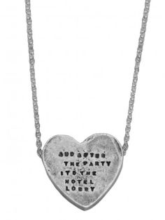 4e1aeb529b Silver chain with distressed heart charm embossed with