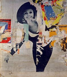 Jacques Villeglé, Rues Desprez and Vercingétorix— La Femme, 12 March 1966, décollage mounted on canvas