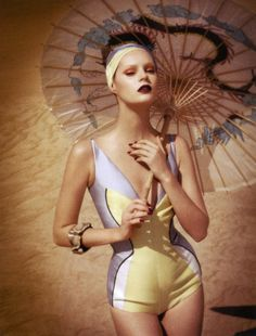Juju Ivanyuk by Luciana Val & Franco Musso (Retro Waves - Vogue Turkey May 2012)