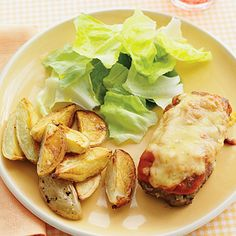 Mini Honey-Mustard Meatloaves with Roasted Potatoes #recipe