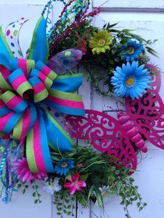 Spring wreath summer wreath grapevine by KarensCustomWreaths, $62.00