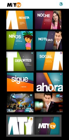 BROADCAST DESIGN 1 by María Lumbreras, via Behance