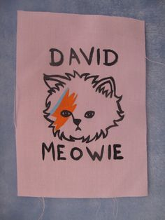 David Meowie Patch by foxyshambles on Etsy, $3.00; I don't even like David Bowie, but this is too cute!