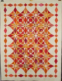 """""""T - Heat Wave"""" by Linda Rotz Miller Quilts & Quilt Tops, via Flickr"""
