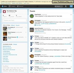 How to Set Up Your New Twitter Account 8 of 21  Confirm => confirm your email account