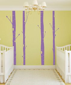 Another great find on #zulily! Purple Aspen Tree Decal Set #zulilyfinds