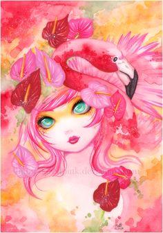 - The Flamingo - by ~DazedPink on deviantART