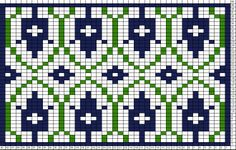~ Living a Beautiful Life ~ Tricksy Knitter Charts: Deco Tulip Motif 43 Knitting Charts, Knitting Stitches, Knitting Designs, Knitting Patterns, Fair Isle Chart, Fair Isle Pattern, Cross Stitch Borders, Modern Cross Stitch Patterns, Fair Isle Knitting